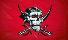 RED SKULL PIRATE - 5 X 3 FLAG